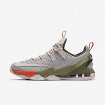 Nike LeBron XIII Low Limited Phantom/Neutral Olive/Turf Orange/Phantom Mens Basketball Shoes