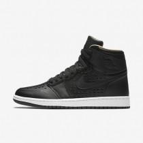 Nike Air Jordan 1 Retro High Black/White/Vachetta Tan/Black Mens Shoes