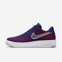 Nike Air Force 1 Low Ultra Flyknit Gym Red/Deep Royal Blue-White Mens Shoes