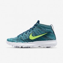 Nike Flyknit Chukka Rio Teal/Midnight Turquoise/Hyper Jade/Volt Mens Golf Shoes