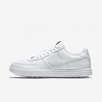 Nike Lunar Force 1 White/White/White Mens Golf Shoes