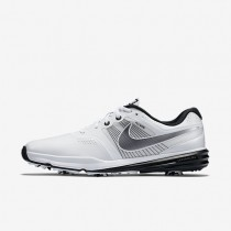 Nike Lunar Command White/Black/Metallic Cool Grey Mens Golf Shoes