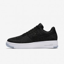 Nike Air Force 1 Flyknit Low Black/Dark Grey/White/Black Mens Shoes