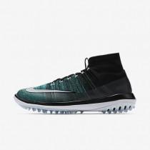 Nike Flyknit Elite Black/Clear Jade/Glacier Blue/White Mens Golf Shoes