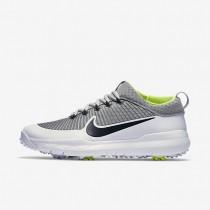 Nike FI Premiere Metallic Silver/White/Volt/Black Mens Golf Shoes
