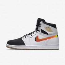Nike Air Jordan 1 Retro High Nouveau White/Gum Light Brown/Black Mens Shoes