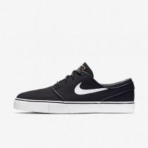 Nike SB Zoom Stefan Janoski Canvas Black/Gum Light Brown/Metallic Gold Star/White Mens Skateboarding Shoes