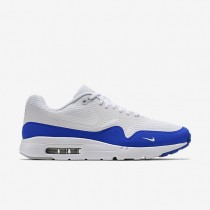 Nike Air Max 1 Ultra Essential White/Pure Platinum/Racer Blue/White Mens Shoes