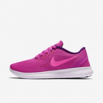 best loved 11127 b96a8 Nike Free RN Fire Pink Blue Glow Light Violet Pink Blast Womens Running