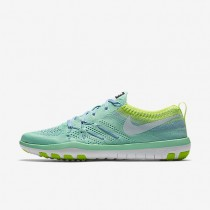 Nike Free TR Focus Flyknit Green Glow/Volt/Bluecap/Glacier Blue Womens Training Shoes