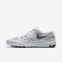 Nike Free TR Focus Flyknit White/Wolf Grey/Metallic Silver/Cool Grey Womens Training Shoes
