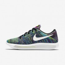 Nike LunarEpic Low Flyknit Black/Fire Pink/Blue Glow/Summit White Womens Running Shoes
