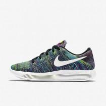 Nike LunarEpic Low Flyknit Black/Fire Pink/Blue Glow/Summit White Womens Running Shoes