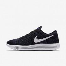 Nike LunarEpic Low Flyknit Black/Dark Purple Dust/White Womens Running Shoes
