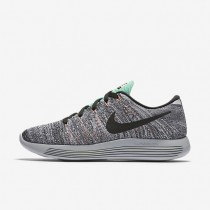 Nike LunarEpic Low Flyknit White/Bright Mango/Gamma Blue/Black Womens Running Shoes