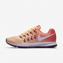 Nike Air Zoom Pegasus 33 Peach Cream/Bright Mango/Bright Grape/White Womens Running Shoes