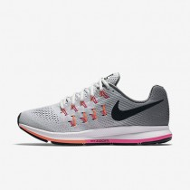Nike Air Zoom Pegasus 33 Pure Platinum/Cool Grey/Pink Blast/Black Womens Running Shoes
