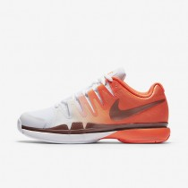 Nike Court Zoom Vapor 9.5 Tour Total Crimson/White/Metallic Rose Gold Womens Tennis Shoes