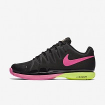 Nike Court Zoom Vapor 9.5 Tour Black/Volt/Bright Cactus/Pink Blast Womens Tennis Shoes