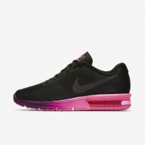 Nike Air Max Sequent Black/Pink Blast/Bright Grape/Anthracite Womens Running Shoes