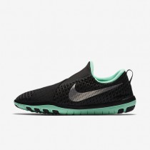 Nike Free Connect Black/Green Glow/Flat Pewter/Metallic Silver Womens Training Shoes