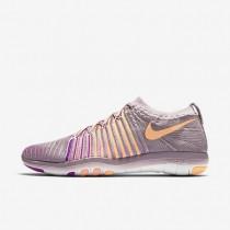 Nike Free Transform Flyknit Plum Fog/Bright Mango/Vivid Purple/Peach Cream Womens Training Shoes