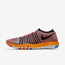 Nike Free Transform Flyknit Pink Pow/Chlorine Blue/Total Orange/Black Womens Training Shoes