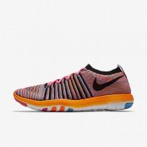 Nike Free Transform Flyknit Pink Pow/Chlorine Blue/Total Orange/Black Womens Training Shoes