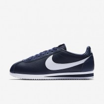 Nike Classic Cortez Leather Midnight Navy/White unisex Shoes