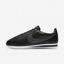 Nike Classic Cortez Leather Black/White/Dark Grey unisex Shoes
