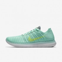 Nike Free RN Flyknit Green Glow/Hasta/Bright Mango/Ghost Green Womens Running Shoes