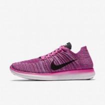 Nike Free RN Flyknit Fire Pink/Peach Cream/Pink Blast/Black Womens Running Shoes