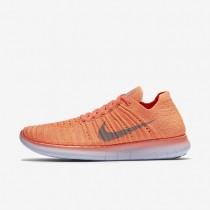 Nike Free RN Flyknit Bright Mango/Peach Cream/Palest Purple/Wolf Grey Womens Running Shoes