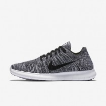 Nike Free RN Flyknit White/Black Womens Running Shoes