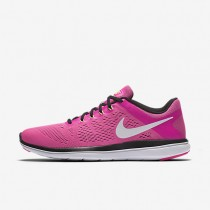 Nike Flex 2016 RN Pink Blast/Black/Electric Green/White Womens Running Shoes