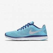 Nike Flex 2016 RN Gamma Blue/Concord/Hyper Violet/Metallic Silver Womens Running Shoes