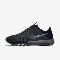 Nike Free TR 6 Metallic Dark Grey/Black/Green Glow/Metallic Silver Womens Training Shoes