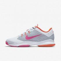 Nike Court Air Zoom Ultra White/Metallic Silver/Total Orange/Pink Blast Womens Tennis Shoes