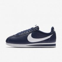 Nike Classic Cortez Leather Midnight Navy/White Womens Shoes