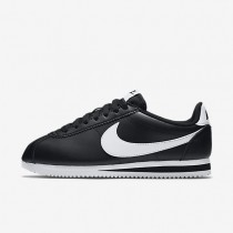Nike Classic Cortez Leather Black/White/White Womens Shoes