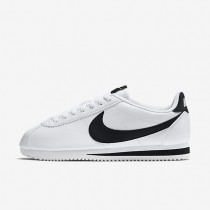 Nike Classic Cortez Leather White/White/Black Womens Shoes