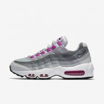Nike Air Max 95 OG Pure Platinum/Wolf Grey/Cool Grey/Hyper Violet Womens Shoes