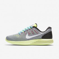 Nike LunarGlide 8 Wolf Grey/Volt/Gamma Blue/White Womens Running Shoes