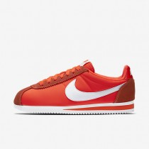 Nike Classic Cortez 15 Nylon Total Crimson/White Womens Shoes