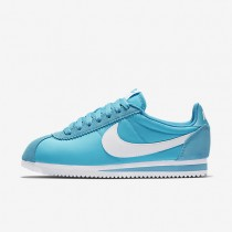 Nike Classic Cortez 15 Nylon Gamma Blue/White Womens Shoes