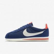 Nike Classic Cortez Textile Coastal Blue/Bright Crimson/Sail Womens Shoes