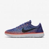 Nike Free RN Distance Dark Purple Dust/Gamma Blue/Bright Mango/Black Womens Running Shoes