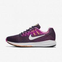 Nike Air Zoom Structure 20 Purple Dynasty/Fire Pink/Peach Cream/White Womens Running Shoes