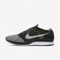 Nike Flyknit Racer Black/White/White Womens Running Shoes