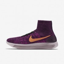 Nike LunarEpic Flyknit Purple Dynasty/Fire Pink/Bright Grape/Peach Cream Womens Running Shoes
